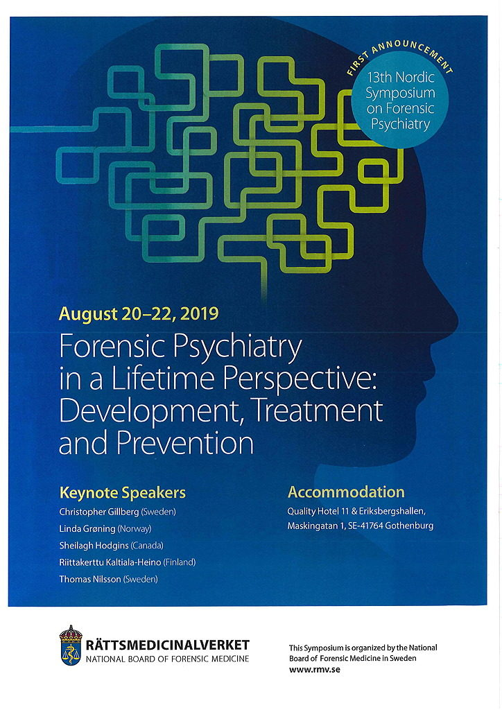 13th Nordic Symposium on Forensic Psychiatry – First Announcement